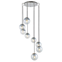 Elegant Lighting 1142D30PN Beckett 8 Light 30 inch Polished Nickel Chandelier Ceiling Light, Urban Classic
