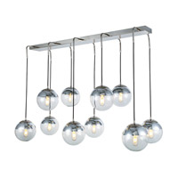 Elegant Lighting 1142G52PN Beckett 10 Light 21 inch Polished Nickel Chandelier Ceiling Light, Urban Classic