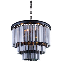 Sydney 9 Light 20 inch Mocha Brown Pendant Ceiling Light in Silver Shade