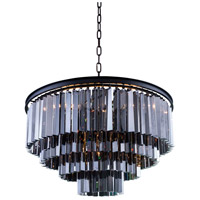Sydney 17 Light 32 inch Matte Black Pendant Ceiling Light in Silver Shade, Urban Classic
