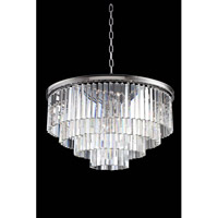 Sydney 17 Light 32 inch Polished Nickel Pendant Ceiling Light in Clear