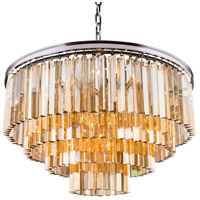 Sydney 17 Light 32 inch Polished Nickel Pendant Ceiling Light in Golden Teak, Urban Classic