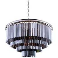 Sydney 17 Light 32 inch Polished Nickel Pendant Ceiling Light in Silver Shade