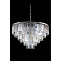 Sydney 33 Light 44 inch Polished Nickel Pendant Ceiling Light in Clear