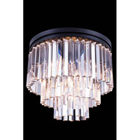 Elegant Lighting Urban 9 Light Flush Mount in Mocha Brown with Royal Cut Clear Crystal 1201F20MB/RC