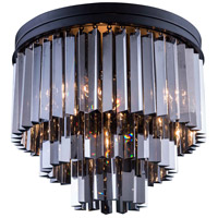 Urban Classic by Elegant Lighting Sydney 9 Light Flush Mount in Mocha Brown with Royal Cut Silver Shade Crystal 1201F20MB-SS/RC