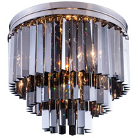 Elegant Lighting 1201F20PN-SS/RC Sydney 9 Light 20 inch Polished Nickel Flush Mount Ceiling Light in Silver Shade, Urban Classic
