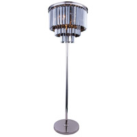 Sydney 63 inch 60 watt Polished Nickel Floor Lamp Portable Light in Silver Shade