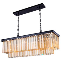 Urban Classic by Elegant Lighting Sydney 12 Light Pendant in Mocha Brown with Royal Cut Golden Teak Crystal 1202D40MB-GT/RC