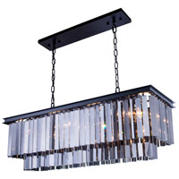 Urban Classic by Elegant Lighting Sydney 12 Light Pendant in Mocha Brown with Royal Cut Silver Shade Crystal 1202D40MB-SS/RC