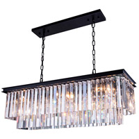 Elegant Lighting 1202D40MB/RC Sydney 12 Light 14 inch Matte Black Pendant Ceiling Light in Clear, Urban Classic