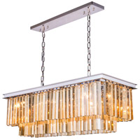 Urban Classic by Elegant Lighting Sydney 12 Light Pendant in Polished Nickel with Royal Cut Golden Teak Crystal 1202D40PN-GT/RC
