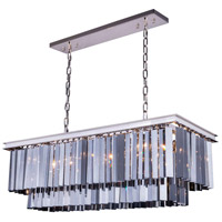 Urban Classic by Elegant Lighting Sydney 12 Light Pendant in Polished Nickel with Royal Cut Silver Shade Crystal 1202D40PN-SS/RC