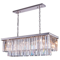 Urban Classic by Elegant Lighting Sydney 12 Light Pendant in Polished Nickel with Royal Cut Clear Crystal 1202D40PN/RC