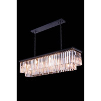Elegant Lighting Urban 12 Light Pendant in Mocha Brown with Royal Cut Clear Crystal 1202D50MB/RC