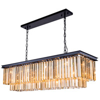 Urban Classic by Elegant Lighting Sydney 12 Light Pendant in Mocha Brown with Royal Cut Golden Teak Crystal 1202D50MB-GT/RC