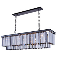 Urban Classic by Elegant Lighting Sydney 12 Light Pendant in Mocha Brown with Royal Cut Silver Shade Crystal 1202D50MB-SS/RC