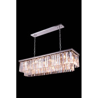 Elegant Lighting 1202D50PN/RC Sydney 12 Light 14 inch Polished Nickel Pendant Ceiling Light in Clear, Urban Classic