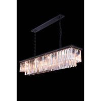 Elegant Lighting 1202D60MB/RC Sydney 12 Light 14 inch Matte Black Pendant Ceiling Light in Clear, Urban Classic