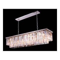 Elegant Lighting Urban 12 Light Pendant in Polished Nickel with Royal Cut Clear Crystal 1202D60PN/RC