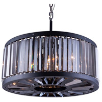 Urban Classic by Elegant Lighting Chelsea 8 Light Pendant in Mocha Brown with Royal Cut Silver Shade Crystal 1203D28MB-SS/RC