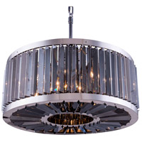 Urban Classic by Elegant Lighting Chelsea 8 Light Pendant in Polished Nickel with Royal Cut Silver Shade Crystal 1203D28PN-SS/RC