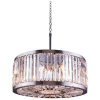 Chelsea 8 Light 28 inch Polished Nickel Pendant Ceiling Light in Clear, Urban Classic