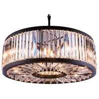 Urban Classic by Elegant Lighting Chelsea 10 Light Pendant in Mocha Brown with Royal Cut Clear Crystal 1203D35MB/RC