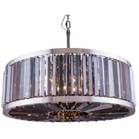 Chelsea 10 Light 36 inch Polished Nickel Pendant Ceiling Light in Silver Shade, Urban Classic