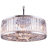 Urban Classic by Elegant Lighting Chelsea 10 Light Pendant in Polished Nickel with Royal Cut Clear Crystal 1203D35PN/RC
