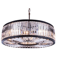 Chelsea 10 Light 44 inch Mocha Brown Pendant Ceiling Light in Clear, Urban Classic