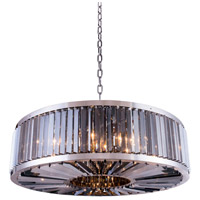 Urban Classic by Elegant Lighting Chelsea 10 Light Pendant in Polished Nickel with Royal Cut Silver Shade Crystal 1203G43PN-SS/RC