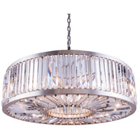 Elegant Lighting 1203G43PN/RC Chelsea 10 Light 44 inch Polished Nickel Pendant Ceiling Light in Clear Urban Classic