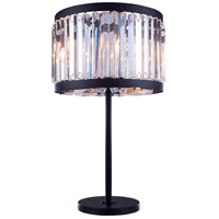 Urban Classic by Elegant Lighting Chelsea 4 Light Table Lamp in Mocha Brown with Royal Cut Clear Crystal 1203TL18MB/RC
