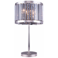 Chelsea 32 inch 60 watt Polished Nickel Table Lamp Portable Light in Silver Shade, Urban Classic