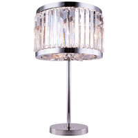 Urban Classic by Elegant Lighting Chelsea 4 Light Table Lamp in Polished Nickel with Royal Cut Clear Crystal 1203TL18PN/RC