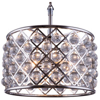 Elegant Lighting Madison 6 Light Pendant in Polished Nickel with Royal Cut Clear Crystal 1204D20PN/RC