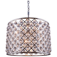 Madison 8 Light 28 inch Polished Nickel Pendant Ceiling Light in Clear, Smooth Royal Cut