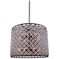Urban Classic by Elegant Lighting Madison 12 Light Pendant in Mocha Brown with Royal Cut Clear Crystal 1204D35MB/RC