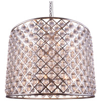 Urban Classic by Elegant Lighting Madison 12 Light Pendant in Polished Nickel with Royal Cut Clear Crystal 1204D35PN/RC