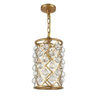 Elegant Lighting 1204D8GI/RC Madison 1 Light 8 inch Golden Iron Pendant Ceiling Light, Urban Classic