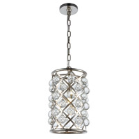 Elegant Lighting 1204D8PN/RC Madison 1 Light 8 inch Polished Nickel Pendant Ceiling Light, Urban Classic