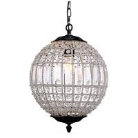 Urban Classic by Elegant Lighting Olivia 1 Light Pendant in Dark Bronze with Royal Cut Clear Crystal 1205D12DB/RC