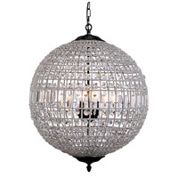Elegant Lighting 1205D24DB/RC Olivia 5 Light 24 inch Dark Bronze Pendant Ceiling Light, Urban Classic