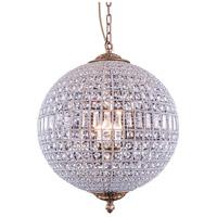 Elegant Lighting 1205D24FG/RC Olivia 5 Light 25 inch French Gold Pendant Ceiling Light Urban Classic