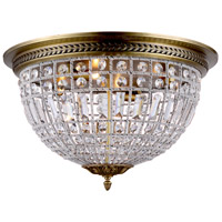 Urban Classic by Elegant Lighting Olivia 4 Light Flush Mount in French Gold with Royal Cut Clear Crystal 1205F24FG/RC