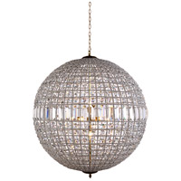 Elegant Lighting 1205G36FG/RC Olivia 8 Light 36 inch French Gold Pendant Ceiling Light Urban Classic