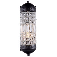 Urban Classic by Elegant Lighting Olivia 1 Light Wall Sconce in Dark Bronze with Royal Cut Clear Crystal 1205W5DB/RC