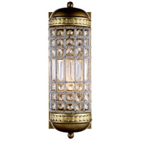 Urban Classic by Elegant Lighting Olivia 1 Light Wall Sconce in French Gold with Royal Cut Clear Crystal 1205W5FG/RC