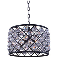 Madison 6 Light 20 inch Mocha Brown Pendant Ceiling Light in Clear, Faceted Royal Cut